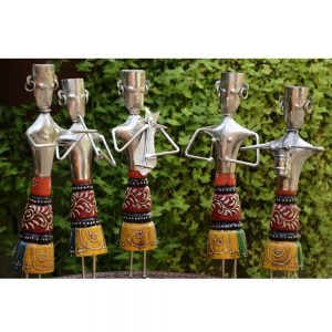 Antikcart Amazing Handicraft Whitemetal Classic Musicians Band 5 members