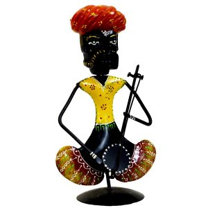 Antikcart Amusing Handcrafted Folk Musician Metal Figurine home decor
