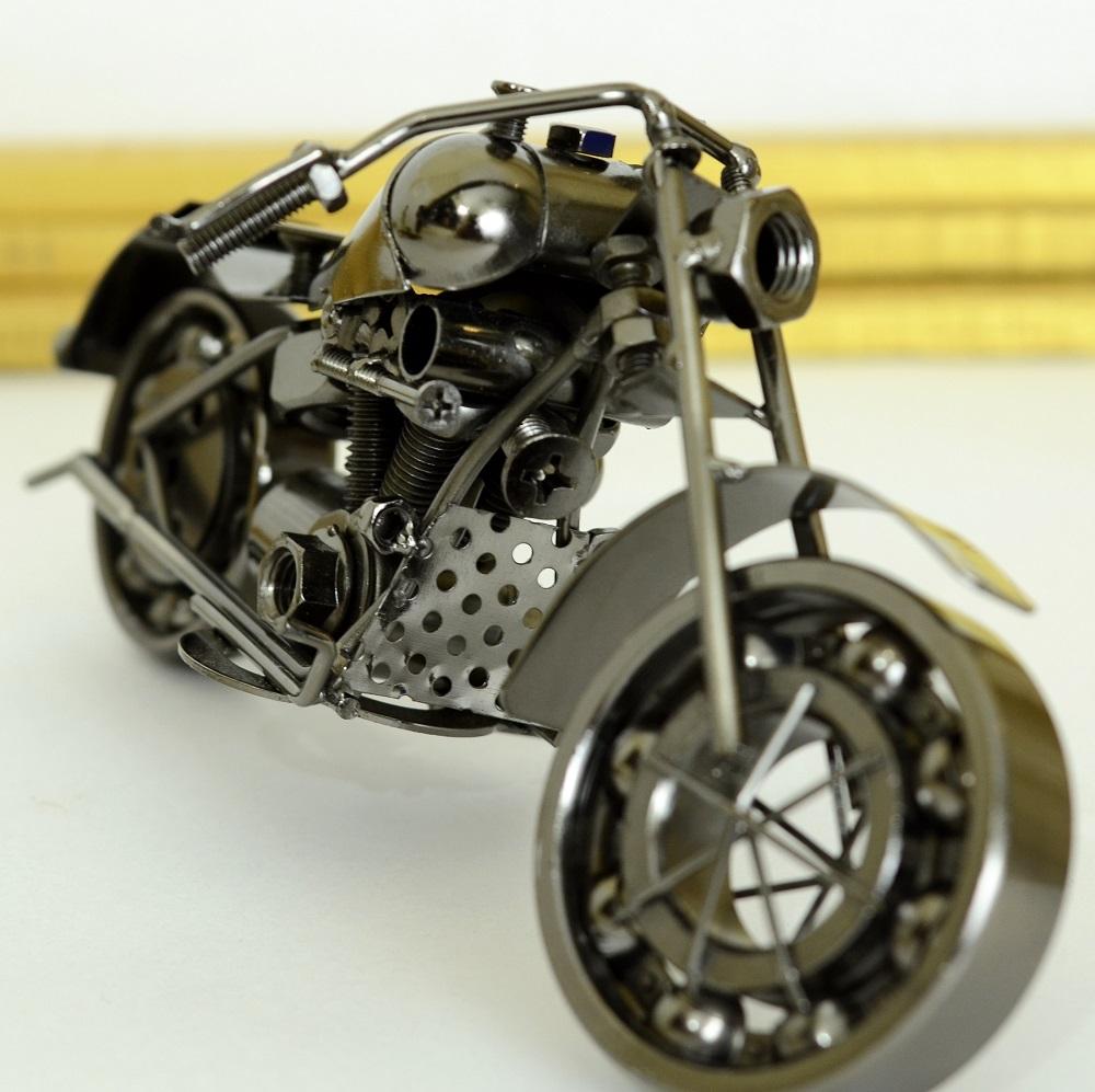 Antikcart Black Metal Harley Super Bike Model Miniature