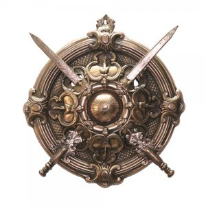 Antikcart Maharaja Antique Black Metal Handcrafted Swords Shield