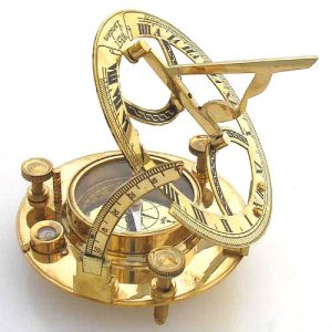 Antikcart Passion Antique Brass Sundial Compass