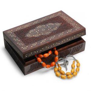 Antikcart Sheesham Wood Brass Inlay Ornament Box