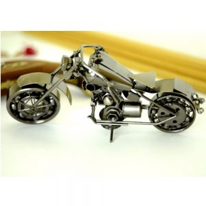 Antikcart Black Metal Harley Super Bike Model Miniature back wheel
