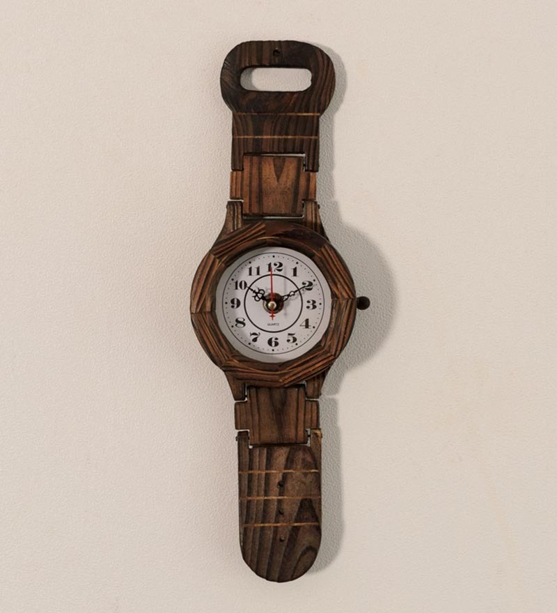 Hand crafted Wooden Wrist Watch Wall Clock Wall Decor ...
