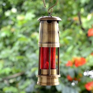 Antikcart Red Colour Vintage Brass Marine Lamp OUTDOOR VIEW Mine Lamp