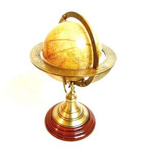 Antikcart 11 inch Brass Armillary Globe Sphere main