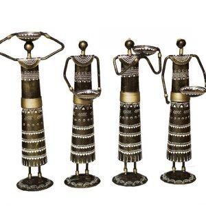 Antikcart Amusing Handcrafted Folk Musician Metal Figurine