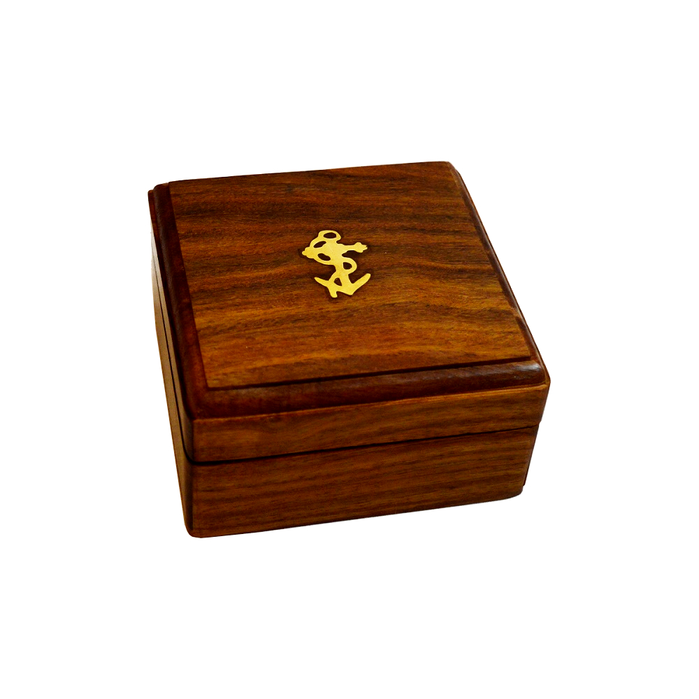 Brass Anchor Inlay Sheesham Wood Gift Box Antikcart