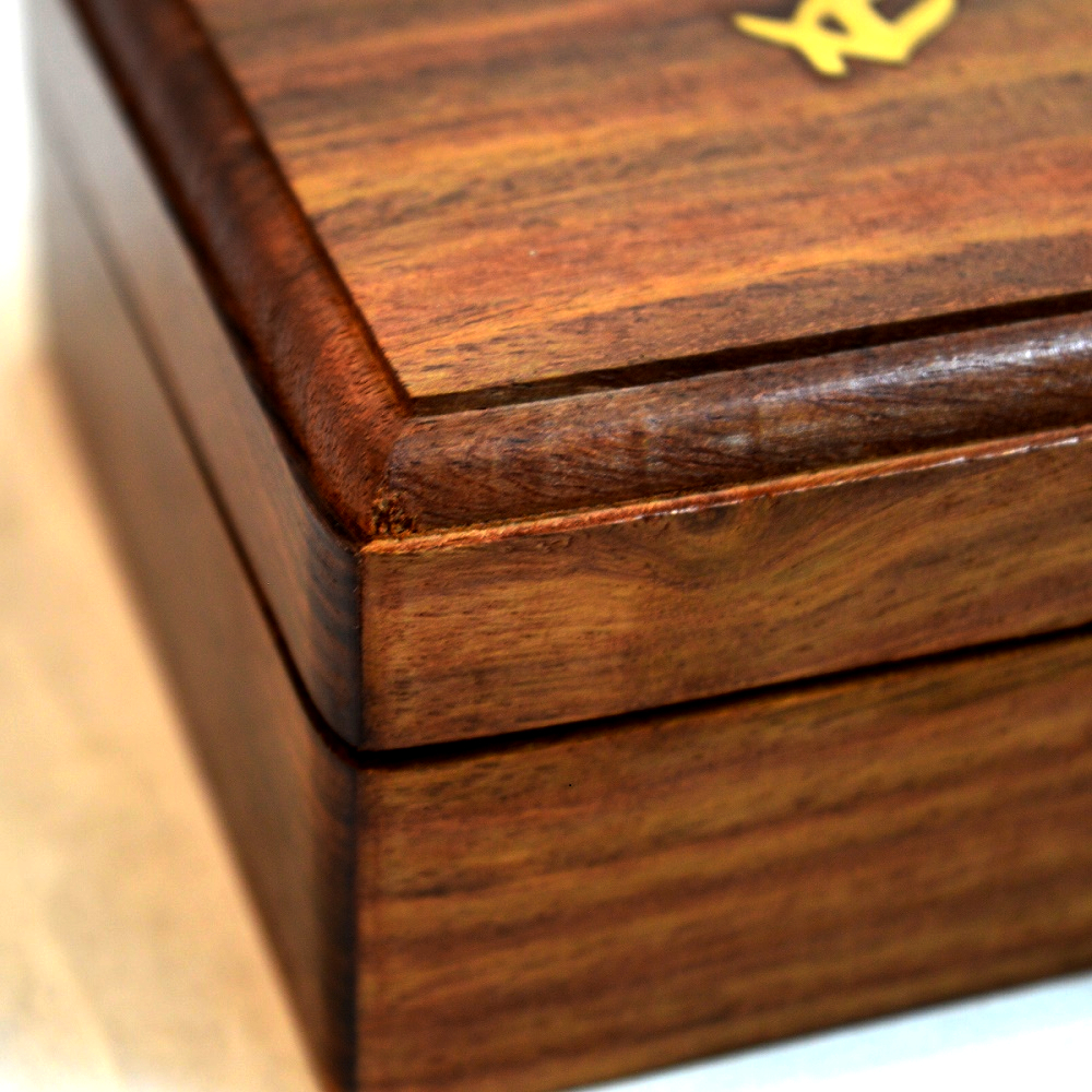 Brass Anchor Inlay Sheesham Wood Gift Box Antikcart