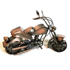 Antikcart Copper Metal Bugatti Super Bike Miniature Model pic
