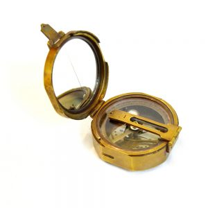 Antikcart Special Antique Brass Marine Survey Compass