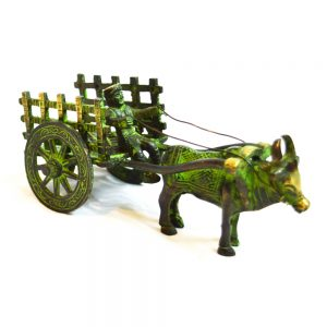 Antikcart Special Antique Finish Bullock Cart Miniature bullock
