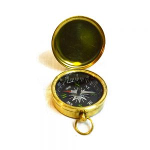 Antikcart Vintage Brass Pocket Compass