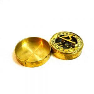 Antikcart Vintage Brass Sundial Compass OPEN VIEWAntikcart Vintage Brass Sundial Compass OPEN VIEW