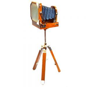 Antikcart Vintage Tripod Camera Model Miniature