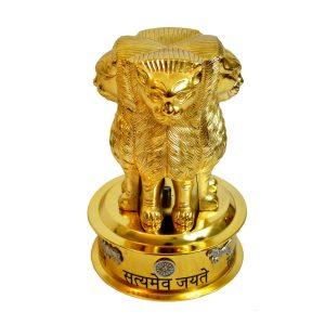 Antikcart Brass Satyameva Jayathe Statue Model