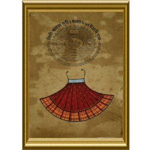Antikcart Elegant Framed Painting of Royal Wear-Stamp Paper Painting Art- Frame View