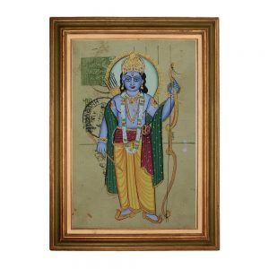 Antikcart Elegant Painting of Lord Krishna on Post Card