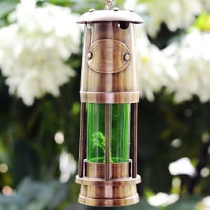 Antikcart Green Colour Vintage Brass Marine Lamps OUTDOOR PIC VIEW