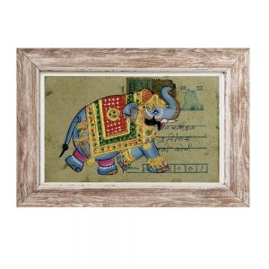 Antikcart Palace Elephant Painted on Ancient Postcard Painting Post Card
