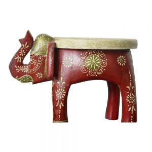 Antikcart Special Handicraft Handpainted Solidwood Elephant Stool