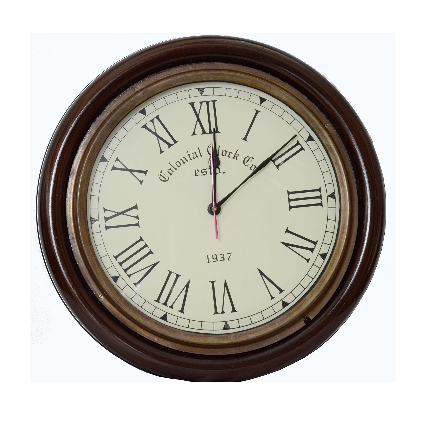 Vintage Style Colonial Wall Clock Hover To Zoom