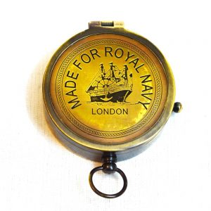 Antikcart Vintage London Royal Navy Brass Compass