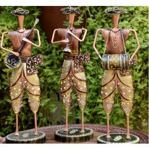 Antikcart new Handicraft Metal Traditonal Folk Musician Bandset hand made in India