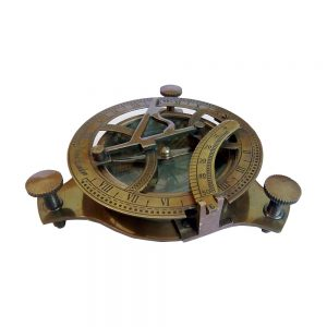 Antique Special Vintage Brass Sundial Compass by Antikcart