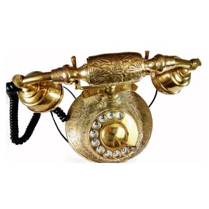 Brass Classic Retro Vintage telephone retro style decor from Antikcart
