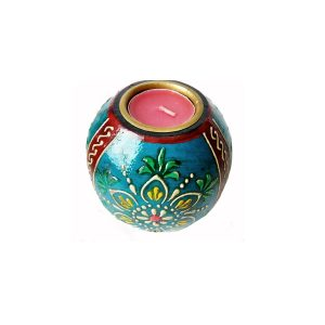 Antikcart Special Meenakari Handcrafted Tea Light Holder by Antikcart
