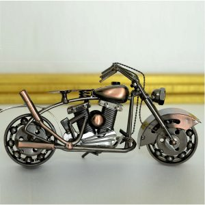 Copper Metal Handicraft Motor Bike Model by Antikcart main pic