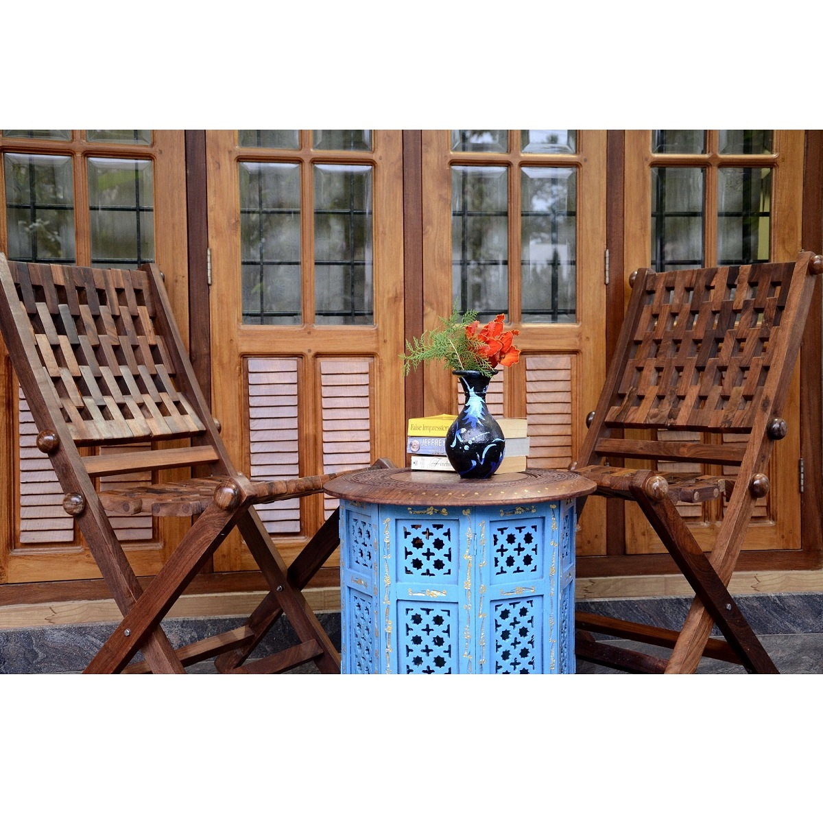 Hover to zoom. Rainbow Curve Sheesham wood Garden Furniture Set   Antikcart