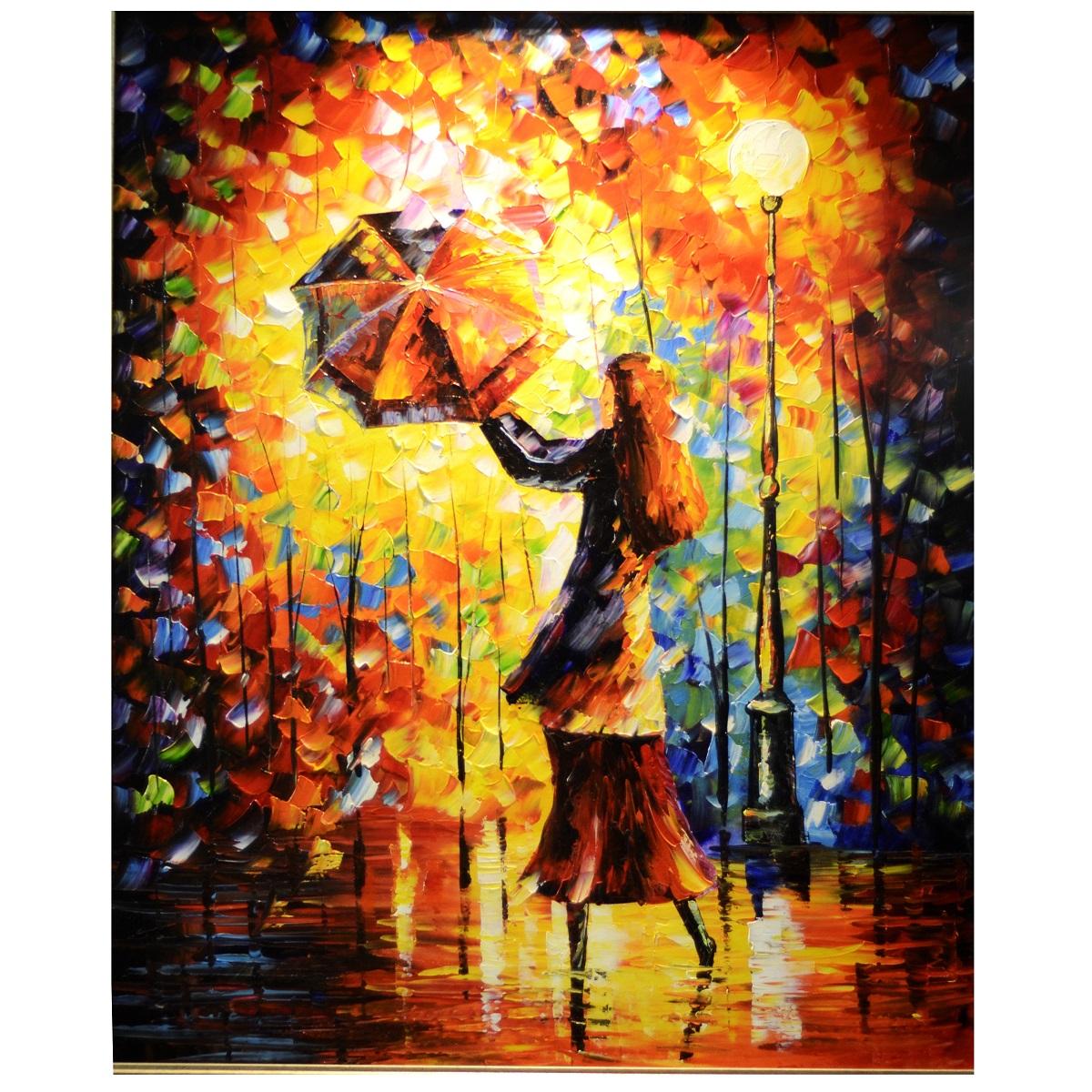 My Rainy Dance Knife Pallete Art Canvas Oil Painting ...