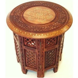 Passion-Handcarved-sheeshamwood-End-Table-Brass-InlayWork-Antikcart