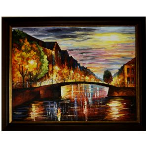 Reflections - Knife Art Oil Canvas Painting by Antikcart painting