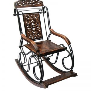 Sheesham-rocking-chair-metal-and-wood-by-antikcart-view-1