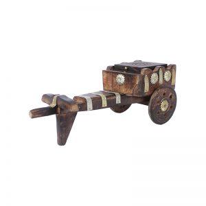 Antikcart multicolour-mango-wood jodhpuri-gaada-design wooden tea coaster set pic