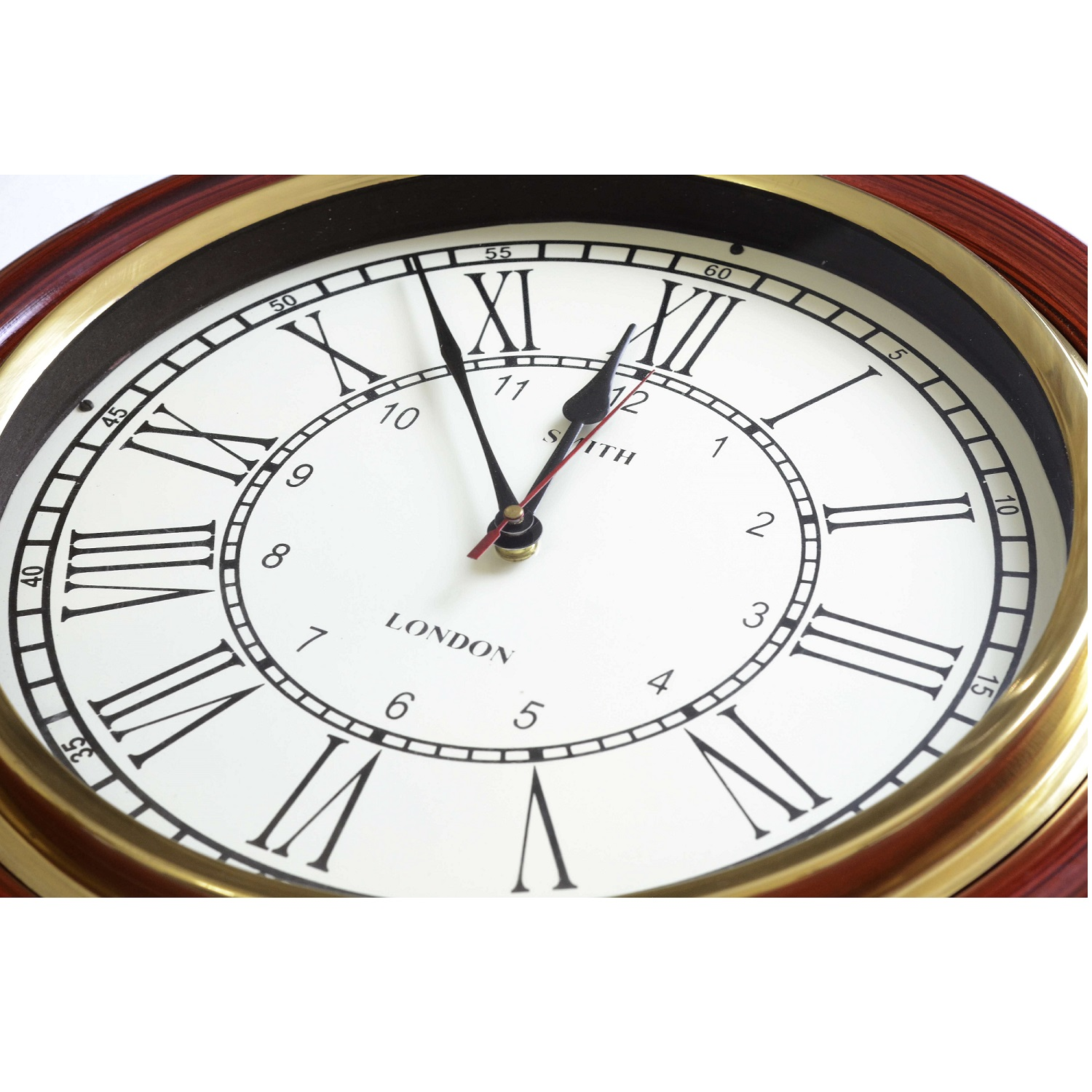 Teak Finish Classic Wall Clock Decor Antikcart