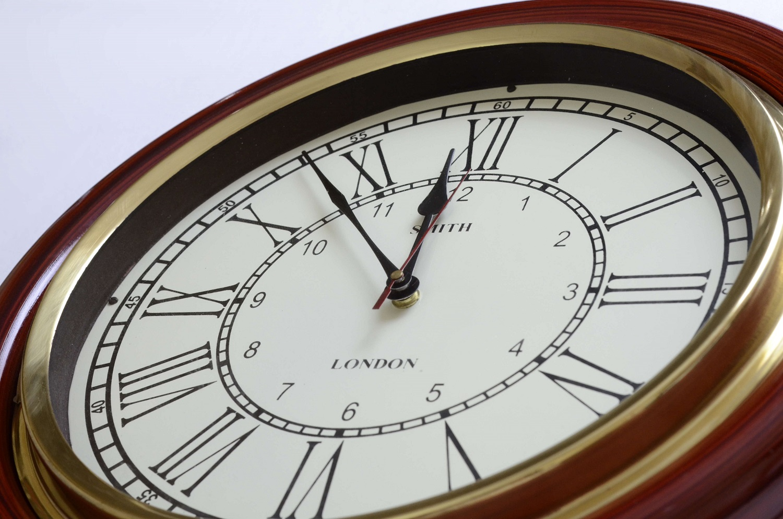 Teak Finish Classic Wall Clock Decor Antikcart
