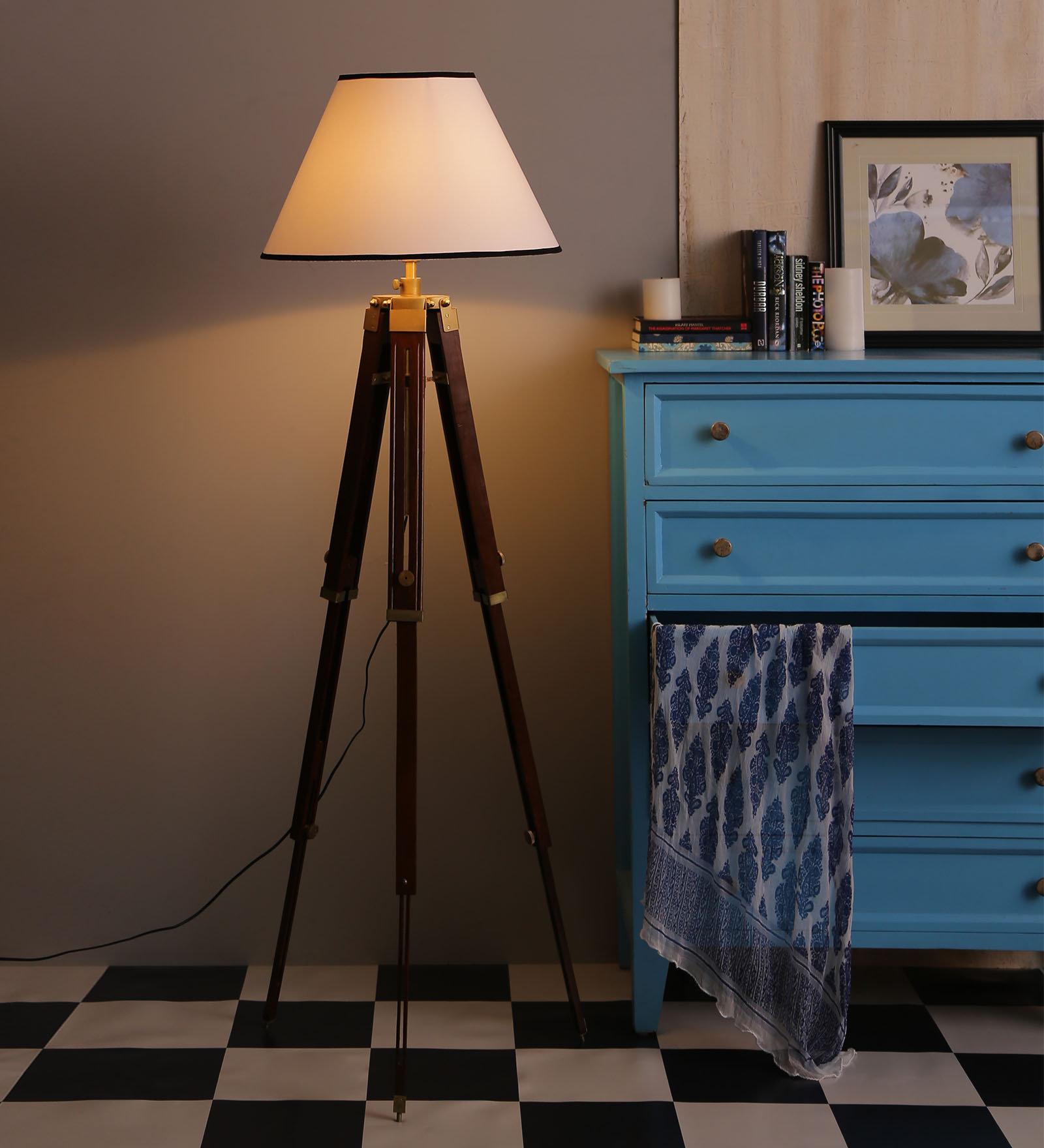Wood Floor Lamp Vintage