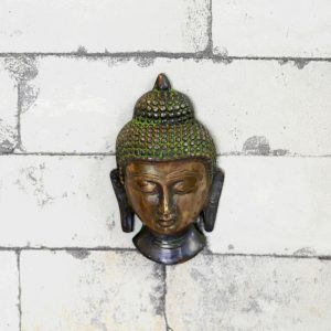 Antikcart Antique Brass Budha Face Wall Decor view