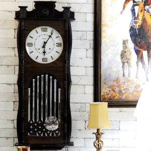 Antikcart 4 feet Real Antique Sreeji Wall Clock