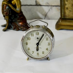 Antikcart Antique Favre Leuba White Dial Time Piece Clock decor collectible side