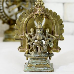 Antikcart Antique Finish Beautiful Matha Kali Brass Statue Decor Collectible front view