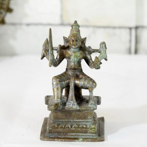 Antikcart Antique Finish Brass Statue of Kali Matha Decor Collectible view