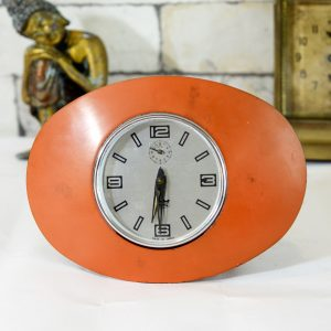 Antikcart Antique Hess Small Time Piece Clock Table Decor Collectible