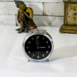 Antikcart Antique Working Favre Leuba Time Piece Table Clock Decor Collectible