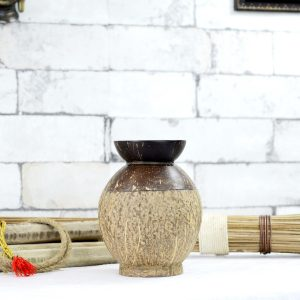 Handicraft Coconut Shell Dry Fruits Container Antikcart Handicraft Coconut Shell Dry Fruits Contaoiner Decor Curio
