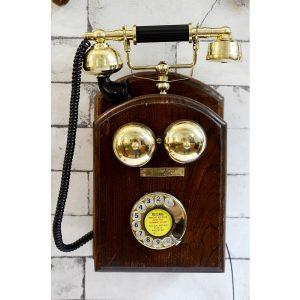 Antikcart Vintage Rotary Phone Wall Mount wall decor